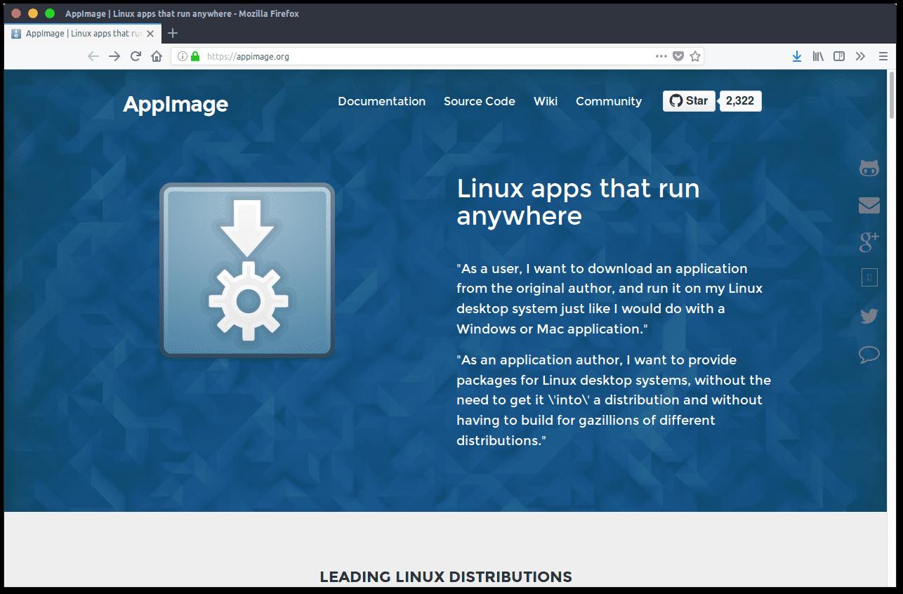 """AppImage cuenta con una tienda de aplicaciones """"AppImageHub"""""""