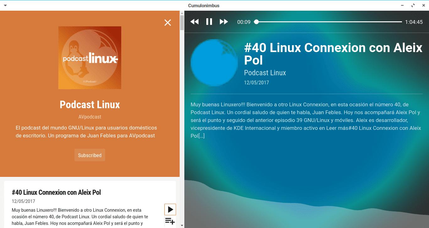 Cumulonimbus - Aplicación para Podcast