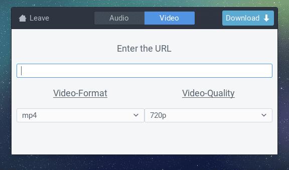 interfaz gráfica para youtube-dl