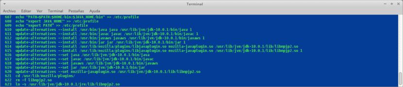 Instalación de Java via Comandos de Terminal