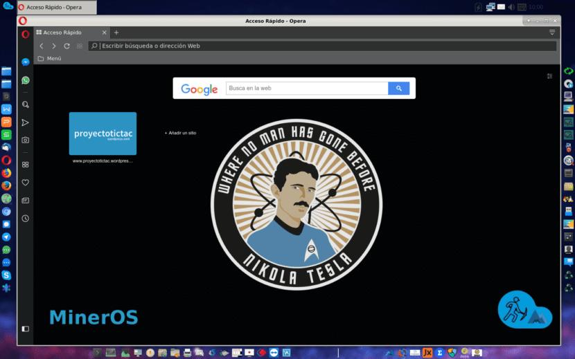 Opera Browser - MinerOS