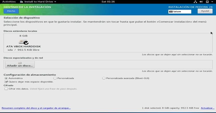 Instalacion de Fedora 28 4