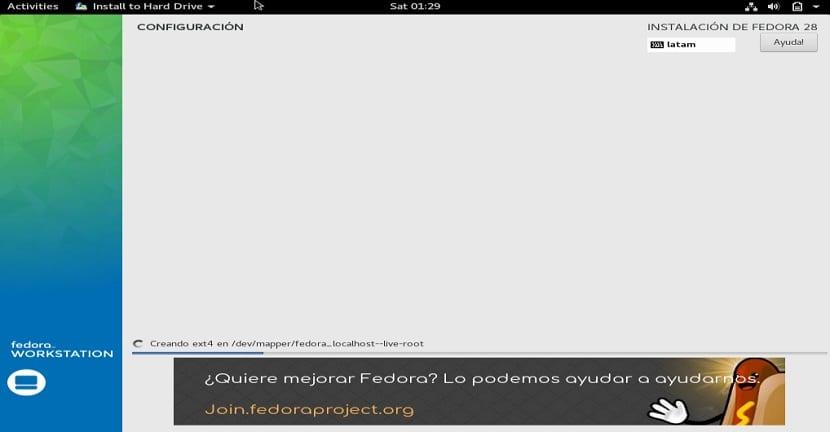 Instalacion de Fedora 28 5