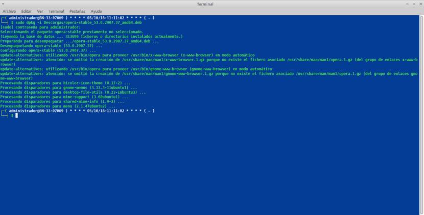Opera Browser Instalación por Terminal