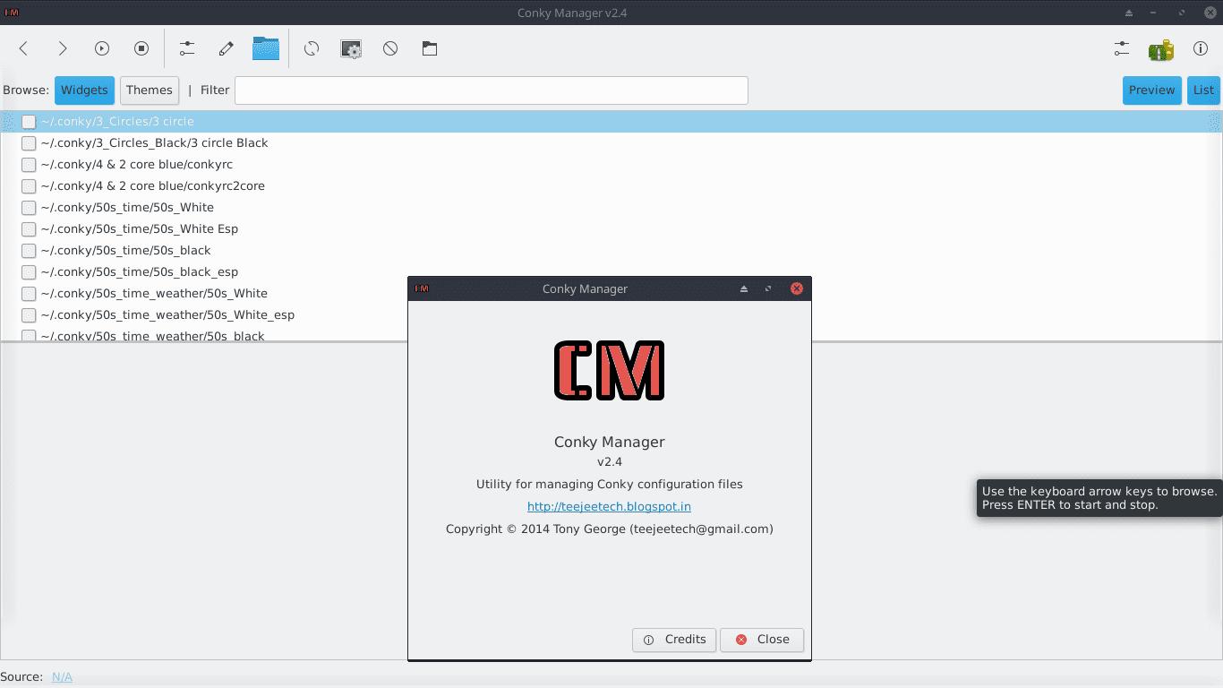 Conky Manager v2.4: Como realizar su configuracion