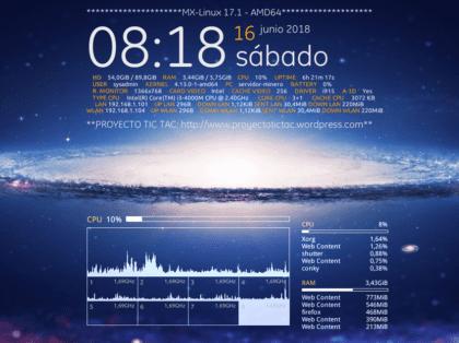 Conkys: Gotham, Procesos y Núcleos de CPU sobre MX-Linux 17
