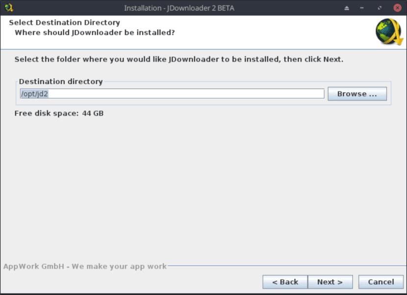 Instalación de JD2 vía archivo .sh - Paso 4