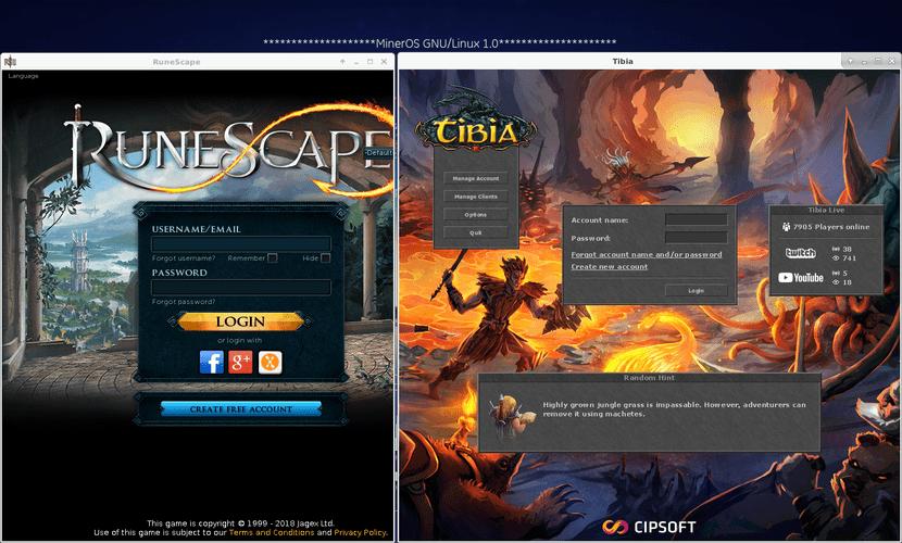 Clientes nativos de los Juegos de Runescape y Tibia en GNU/Linux