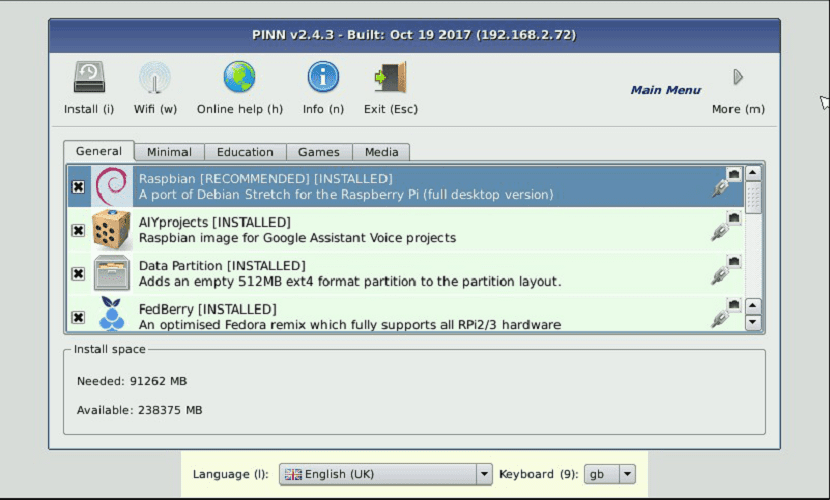PINN: una alternativa a NOOBS para tu Raspberry Pi