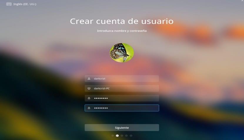 Crear usuario Deepin