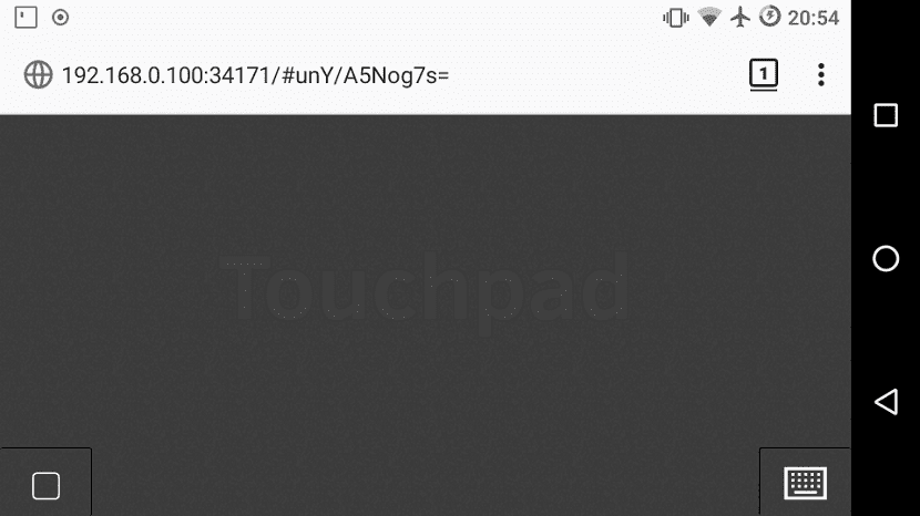 Remote touchpad 1