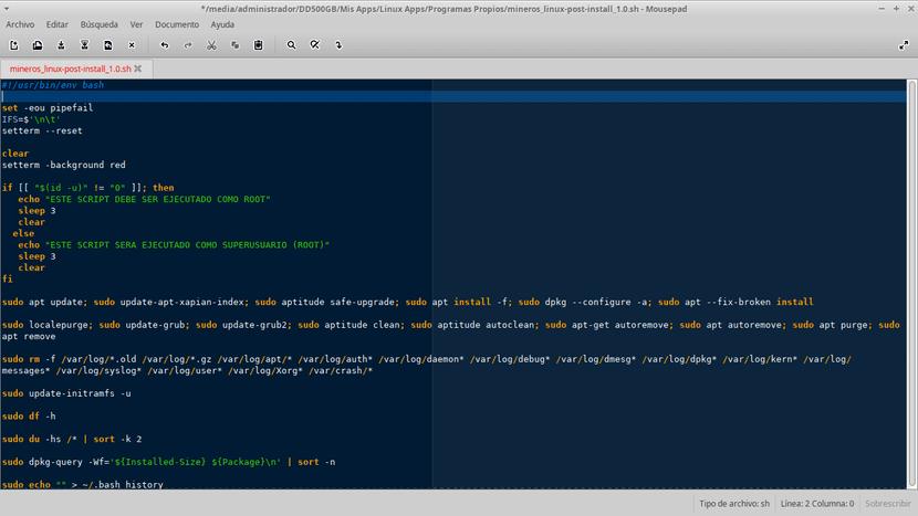 Script de Mantenimiento y Actualización sobre GNU/Linux