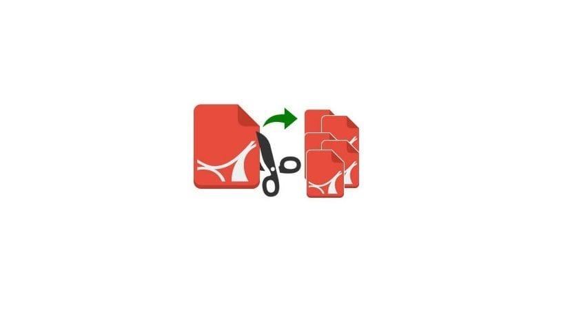 Dividir archivos logo tijera cortando pdf