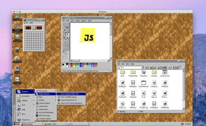 Windows 95 en electron