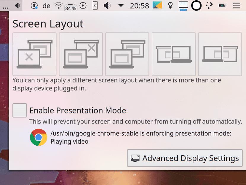 Pantallas KDE