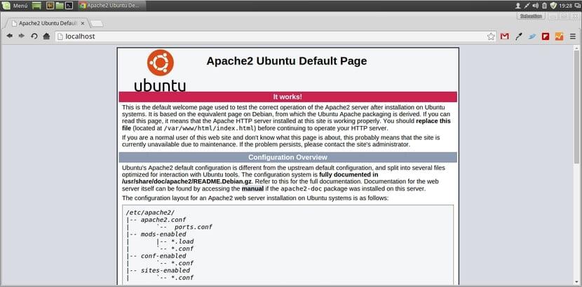 Web de prueba de Apache