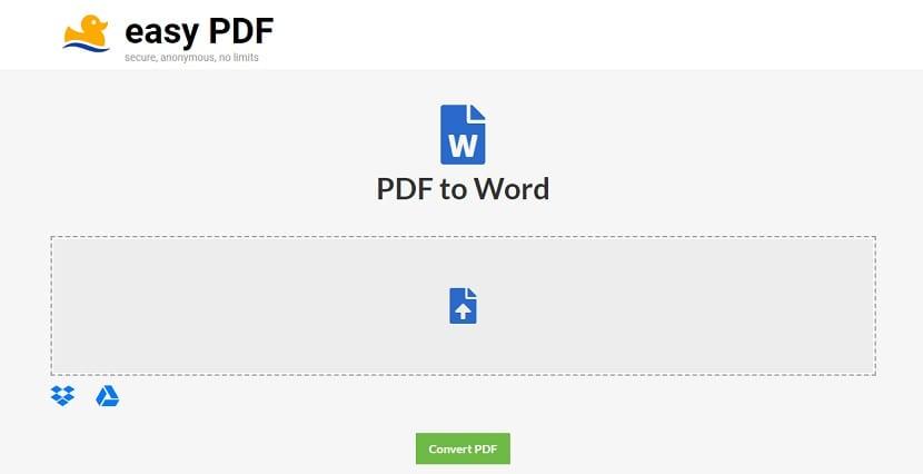 EasyPDF convertir pdf a word