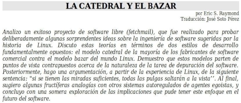 Introducción a la Catedral y el Bazar