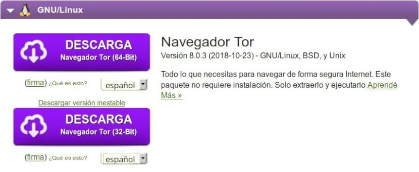 Tor Browser: Descarga en Español