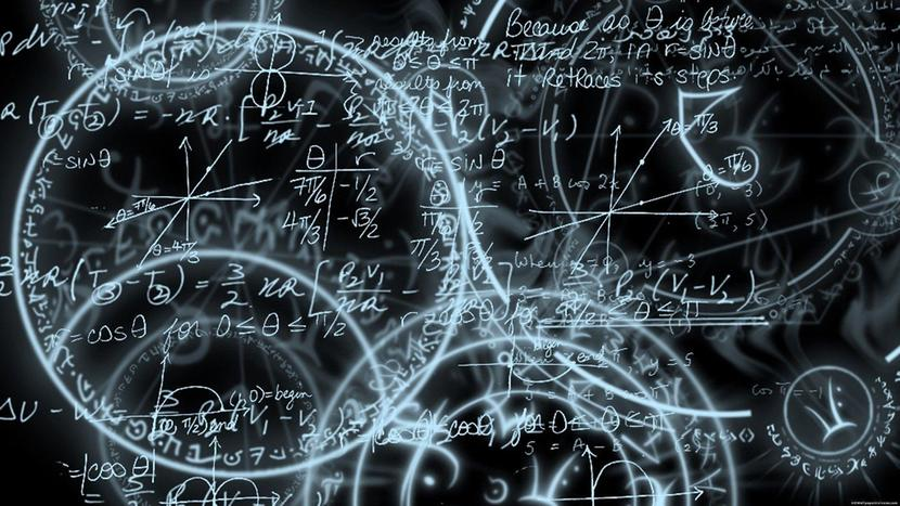 Fondo de pizarra con fórmulas matemáticas