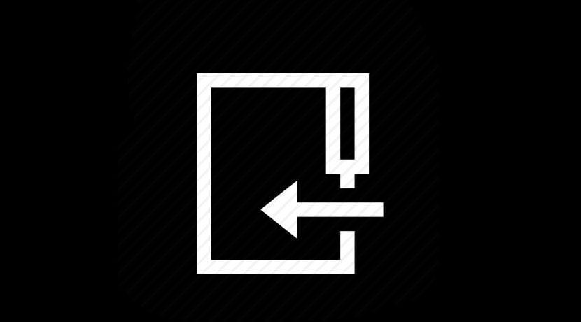 Icono flecha y directorio