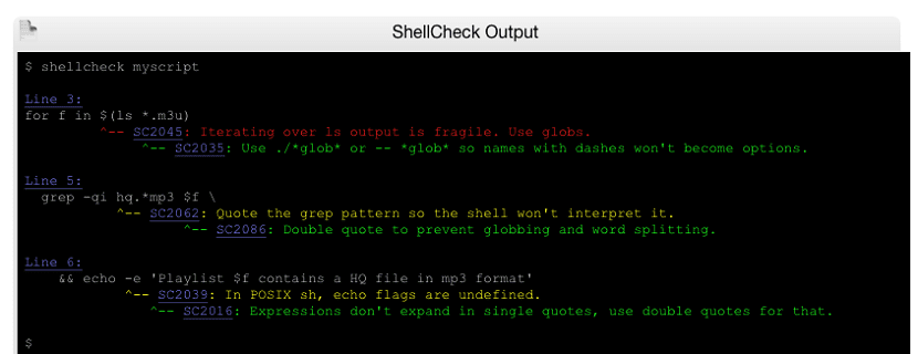shellcheck