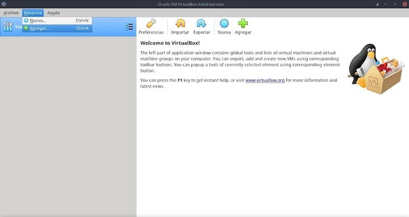 Virtualbox: Secciones y Opciones