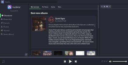 Nuclear: Un excelente reproductor de música vía streaming