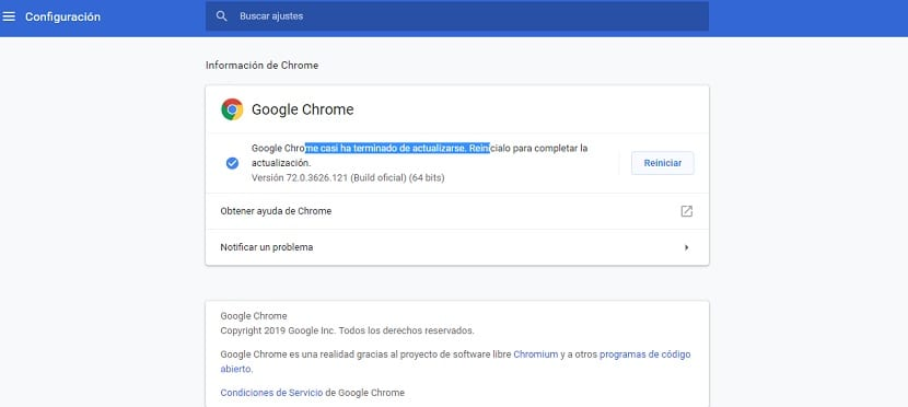 Actualizar a Chrome 73