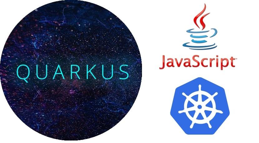 Logos de kubernetes Java y Quarkus