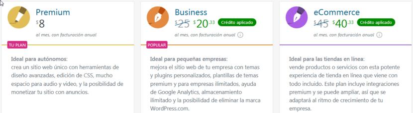 WordPress - Temas y Complementos: Planes