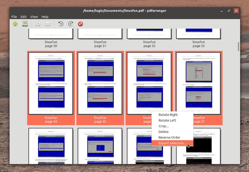 PDF Arranger pantallazo
