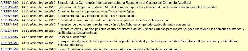 Privacidad Informática y Software Libre: Resolución 45/95