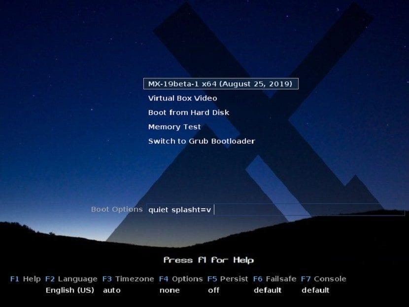 MX-Linux 19: Instalación Paso 1