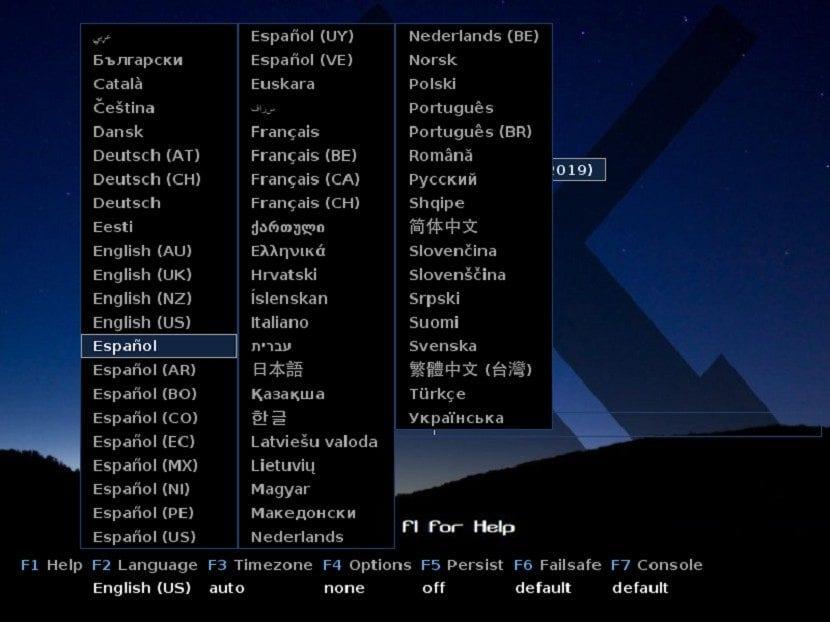 MX-Linux 19: Instalación Paso 1a