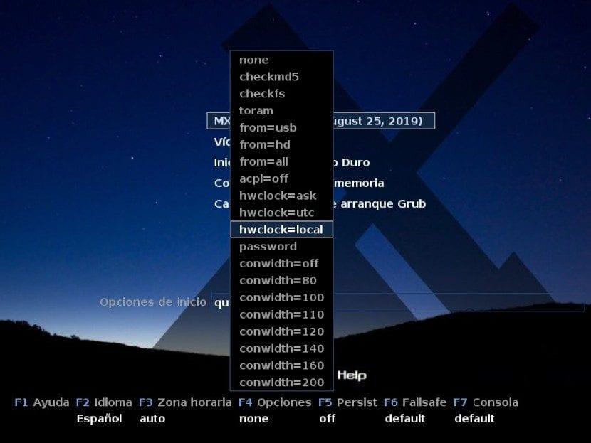 MX-Linux 19: Instalación Paso 1c