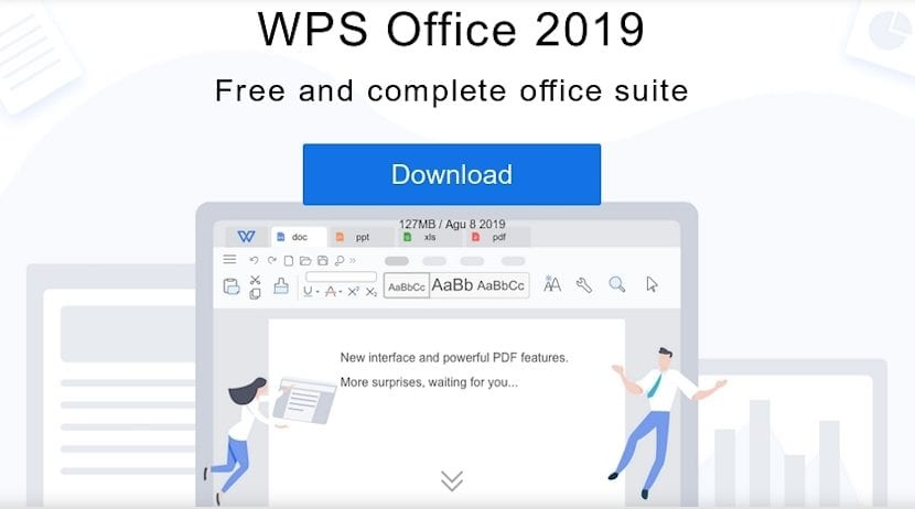 WPS Office 2019: Sitio de descarga
