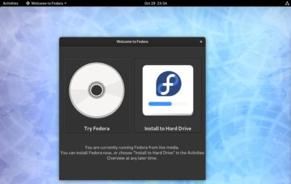Instalacion Fedora 31 - paso 1