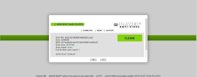 Servicios web de escaneo: Dr. Web