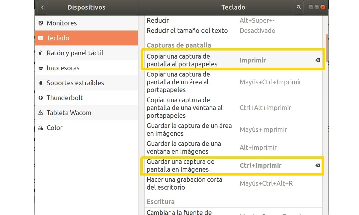 impr pant Ubuntu (configuración)