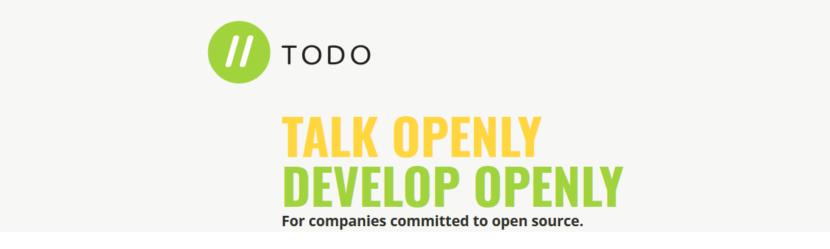 TODO: Hablar abiertamente Desarrollar abiertamente