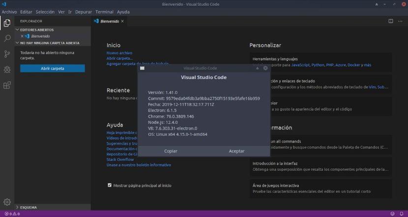 Visual Studio Code: Nueva versión 1.41 disponible para el año 2020
