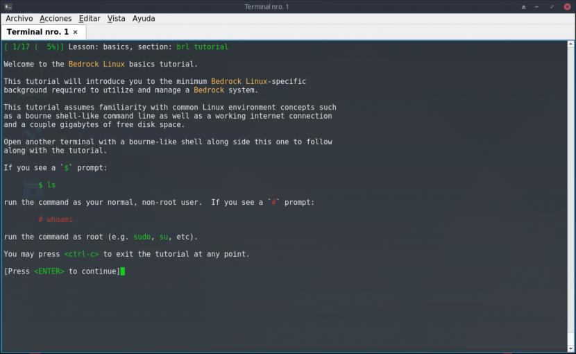 Bedrock Linux: Contenido