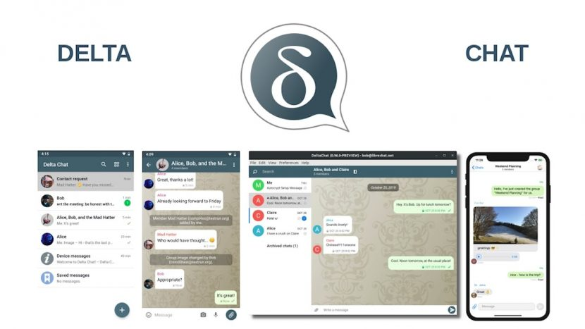 Delta Chat: Contenido