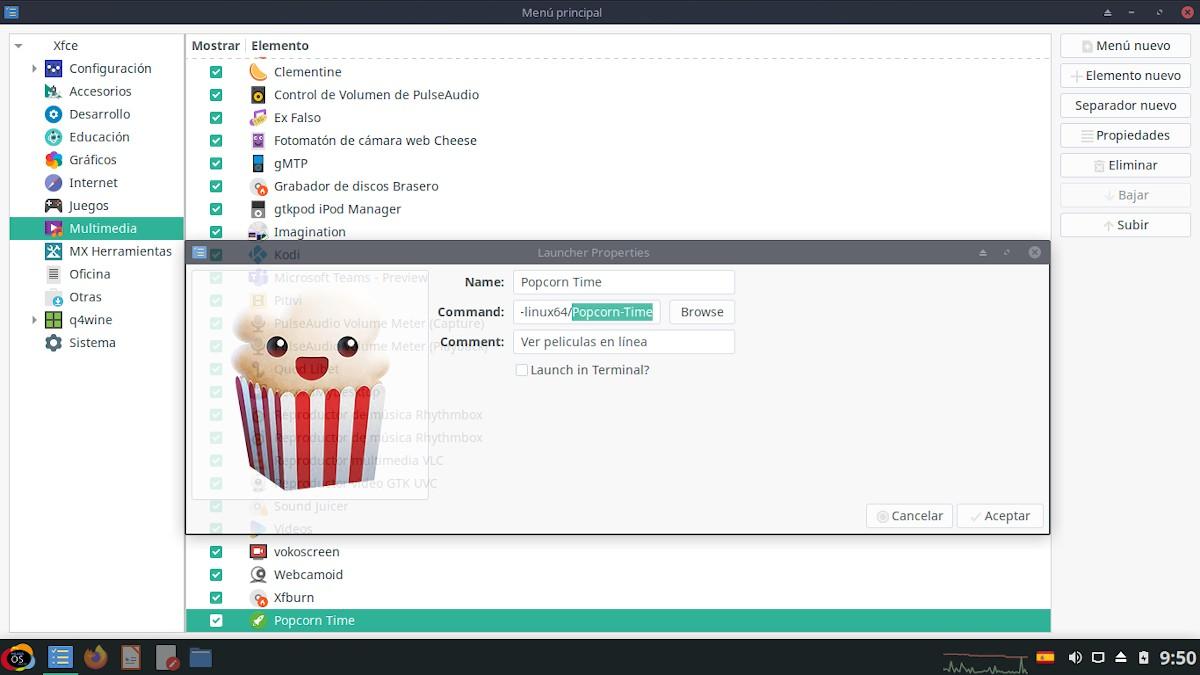 Popcorn Time: Pantallazo 2