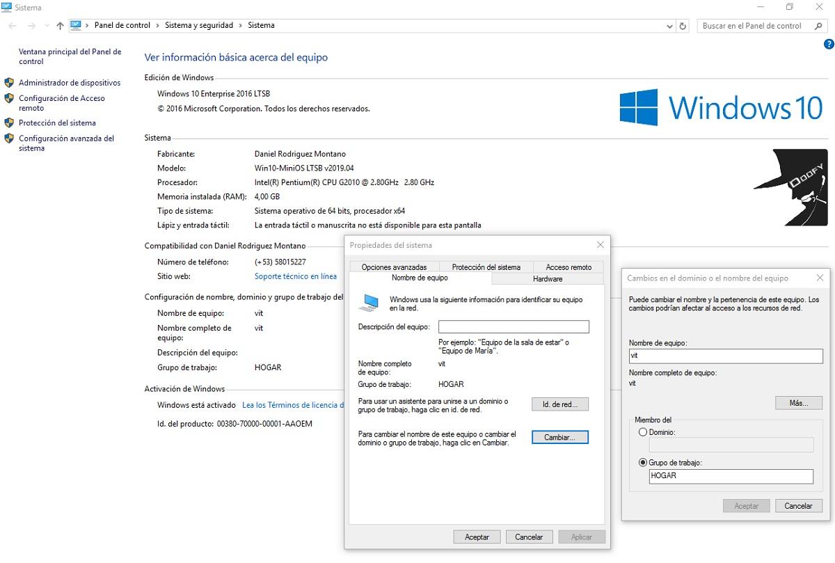 Windows 10: Activar Samba paso 1