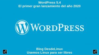 WordPress 5.4: El primer gran lanzamiento del año 2020
