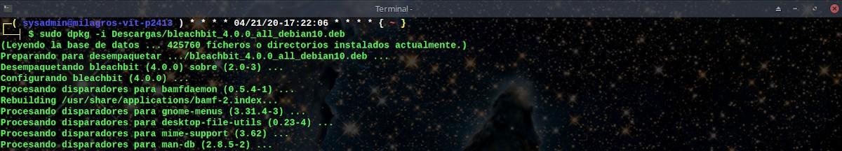 BleachBit 4.0.0: Instalación