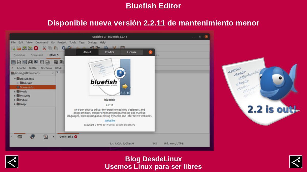 Bluefish Editor: Contenido