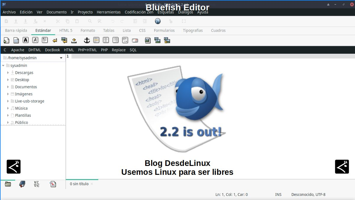 Bluefish Editor: Introducción